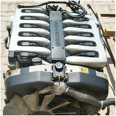#For#Sale#Used#Parts#Mercedes#Benz#OEM#alyehliparts#alyehli#UAE#AbuDhabi#AlFalah#City  FOR SALE MERCEDES BENZ OEM - USED PARTS :  1996-2002 MERCEDES BENZ 600 V12 ENGINE WITH GEAR BOX  ENGINE/MOTOR M120 V12 600  ENGINE : 5987cc / 390HP  THIS ENGINE WITH TH