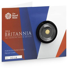 Britannia 2014 Fortieth Ounce Gold packaging