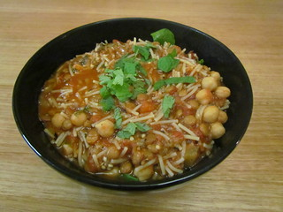Harira with Eggplants and Chickpeas