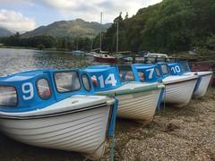 Four little boats at Glenridding / Ullswater