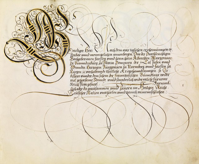 FJ Brechtel calligraphy 16th cent. m
