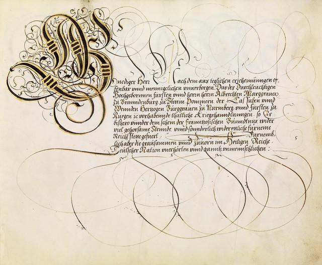 FJ Brechtel calligraphy 16th cent. m