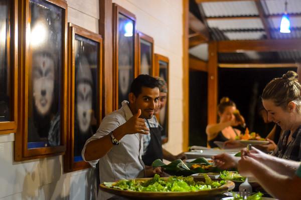 Dinner Time at Yoga Teacher Training in Costa Rica