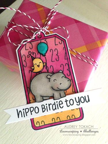 Hippo Birdie Tag