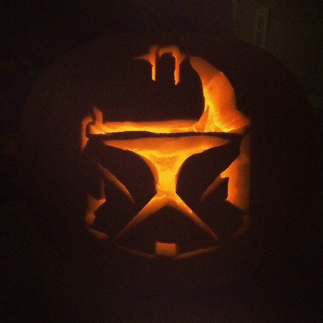 Adrian carved a #stormtrooper #pumpkin for the boys! #pumpkins #halloween #autumn #fall #fun #family #pumpkincarving