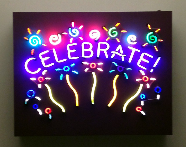 Celebrate: Neon sign at National Postal Museum
