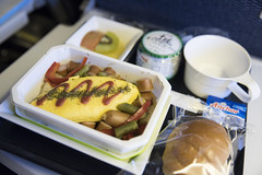 Breakfast, Airplane Meal, ANA Narita-San Francisco