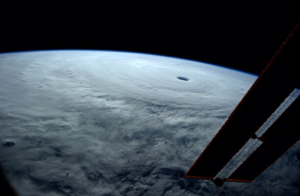 Vongfong taken from the International Space Station on October 8, 2014
