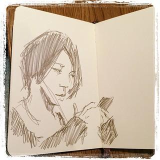 #japon #urbansketch #metro #portraits #pentel #kerry #moleskine