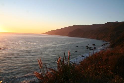 Sunset over Central Cali Coast