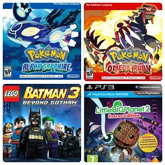 4 new games coming out next month! Can't wait!!! #pokemon #sapphire #omegasapphire #ruby #alpharuby #pokemonmaster #3ds #lbp3 #littlebigplanet3 #lbp #littlebigplanet #sackboy #ps3 #batman #legobatman #lego #legobatman3 #wiiu #gotham #november