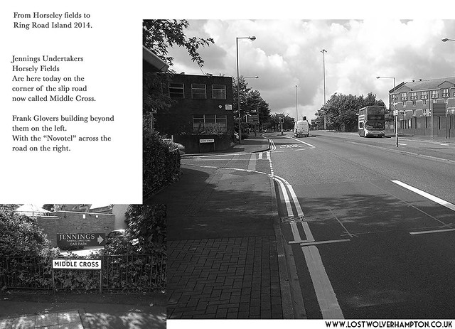 The slip road from Horseley Fields and Willenhall Road 2014