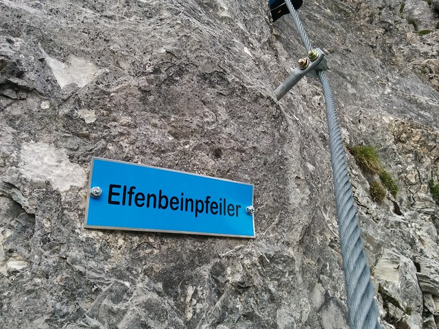 Am Elfenbeinpfeiler, Klettersteig Großer Kinigat