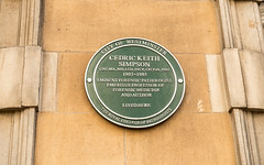Photo of Cedric Keith Simpson green plaque