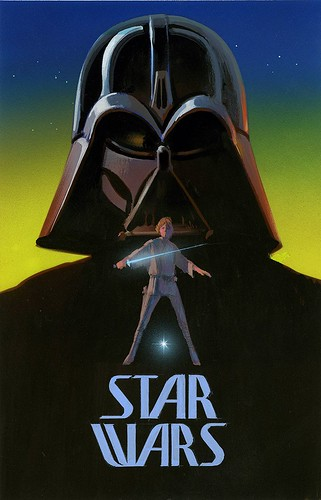 Ralph McQuarrie poster concept - Darth Vader and Luke Skywalker