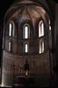 Choeur gothique, basilique Notre-Dame de Valère (XIIe-XIIIe siècles), colline de Valère, Sion, canton du Valais, Suisse.