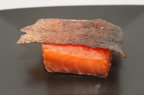 Confit salmon, crispy skin