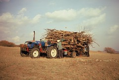 agriculture(0.0), hay(0.0), harvest(0.0), crop(0.0), farm(1.0), field(1.0), soil(1.0), vehicle(1.0), agricultural machinery(1.0), off-roading(1.0), rural area(1.0),