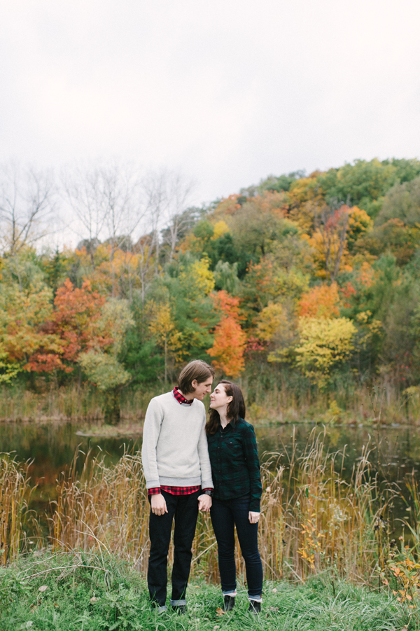 Celine Kim Photography Evergreen Brickworks Fall engagement session Toronto wedding photographer-15