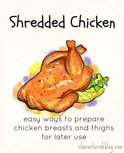 Shredded Chicken - Cooking With Breasts and Thighs