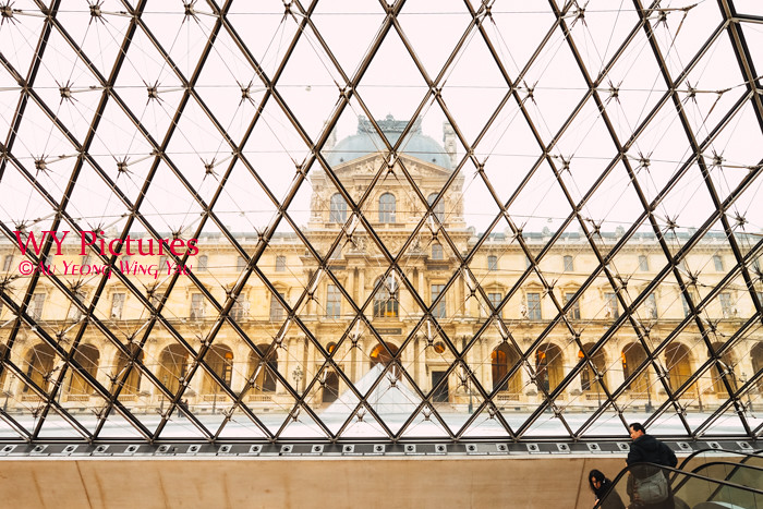 Paris 2017: In The Louvre Pyramid In Winter