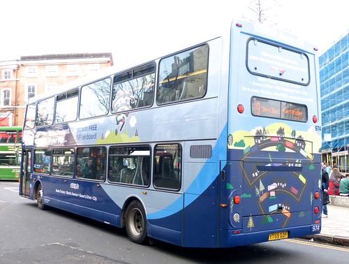 YT59 OZP 'Nottingham City Transport' No. 974 'Navy Line' Scania N270UD / Optare on 'Dennis Basford's railsroadsrunways.blogspot.co.uk'
