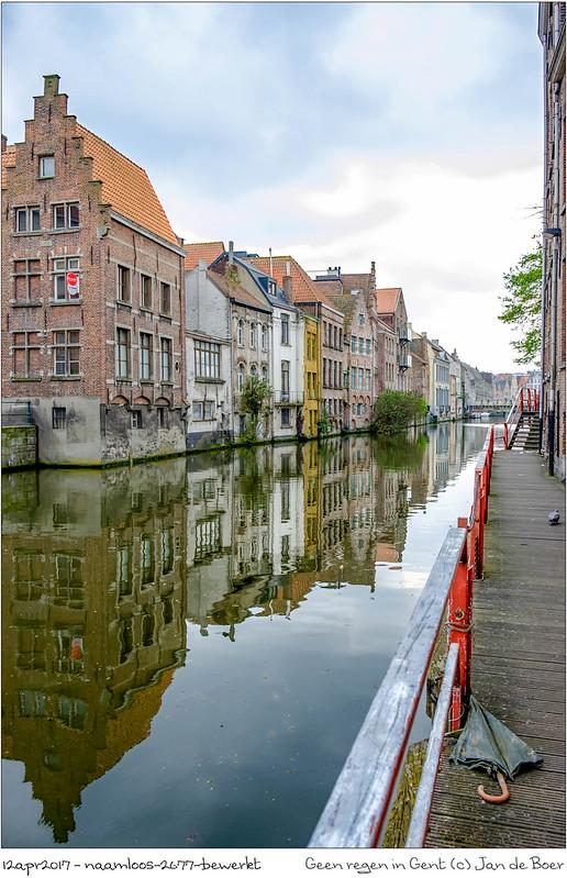 Geen regen in Gent