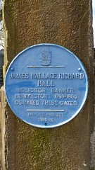 Photo of James Wallace Richard Hall blue plaque