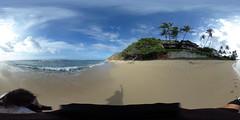 Ka'alawai Beach below the Southeastern side of Diamond Head, Honolulu, Oahu, Hawaii - a 360° Equirectangular VR