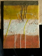 Another encaustic piece finished today. Playing with layers.