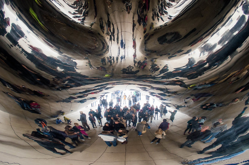 Selfie Under the Bean in Chicago Millennium Park
