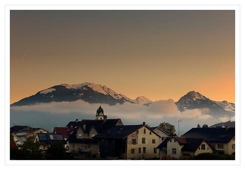 morning autumn light sky urban mist cold color beautiful fog clouds sunrise canon golden switzerland october glow view peaceful valley autumnal näfels canonef2470mmf4lisusm canon6d ericgoncalves