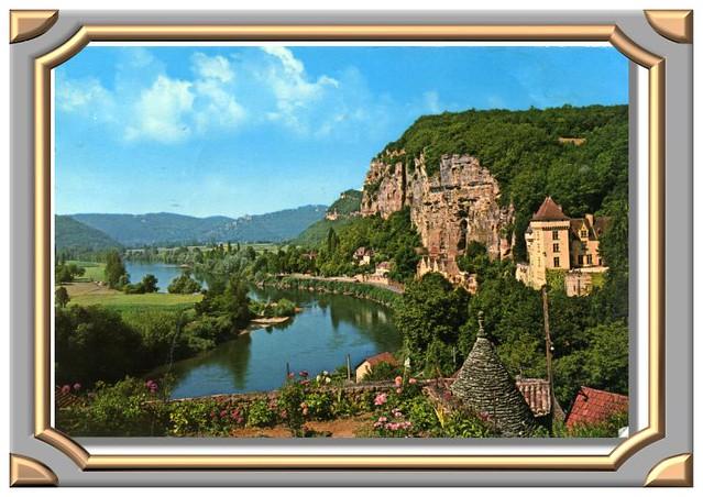 Le Château de la Malartrie aux bords de la Dordogne