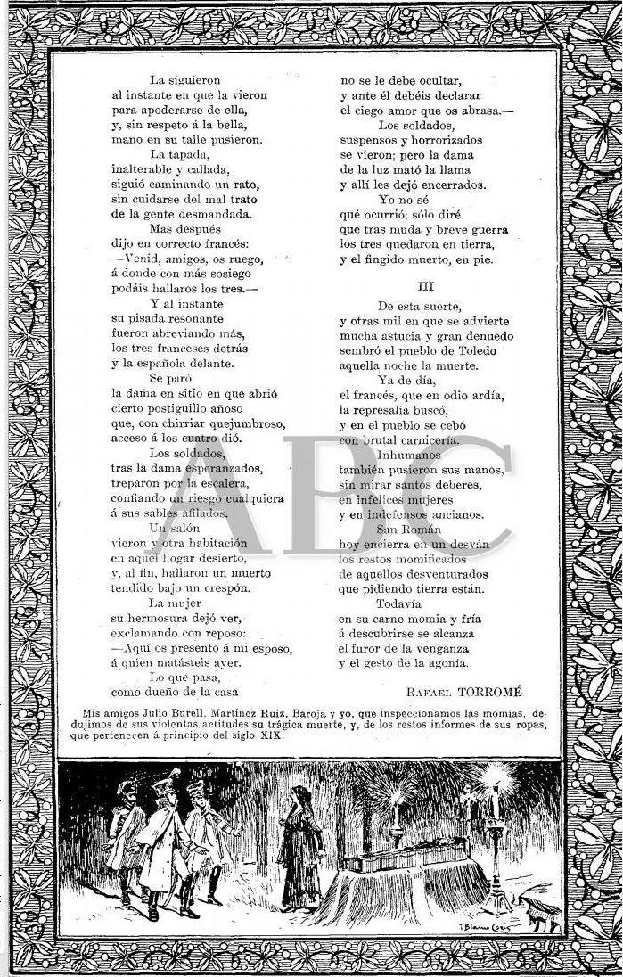 Artículo sobre las Momias de San Román por Rafael Torromé, publicado el 20 de septiembre de 1902ABC