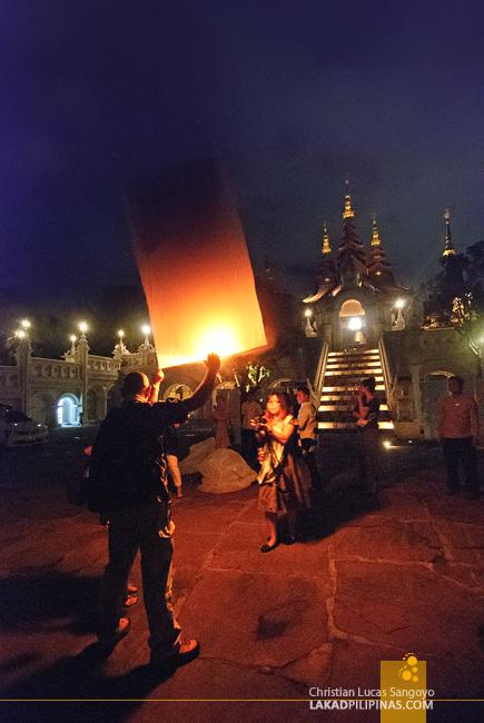 Sky Lantern at Dhara Dhevi in Chiang Mai