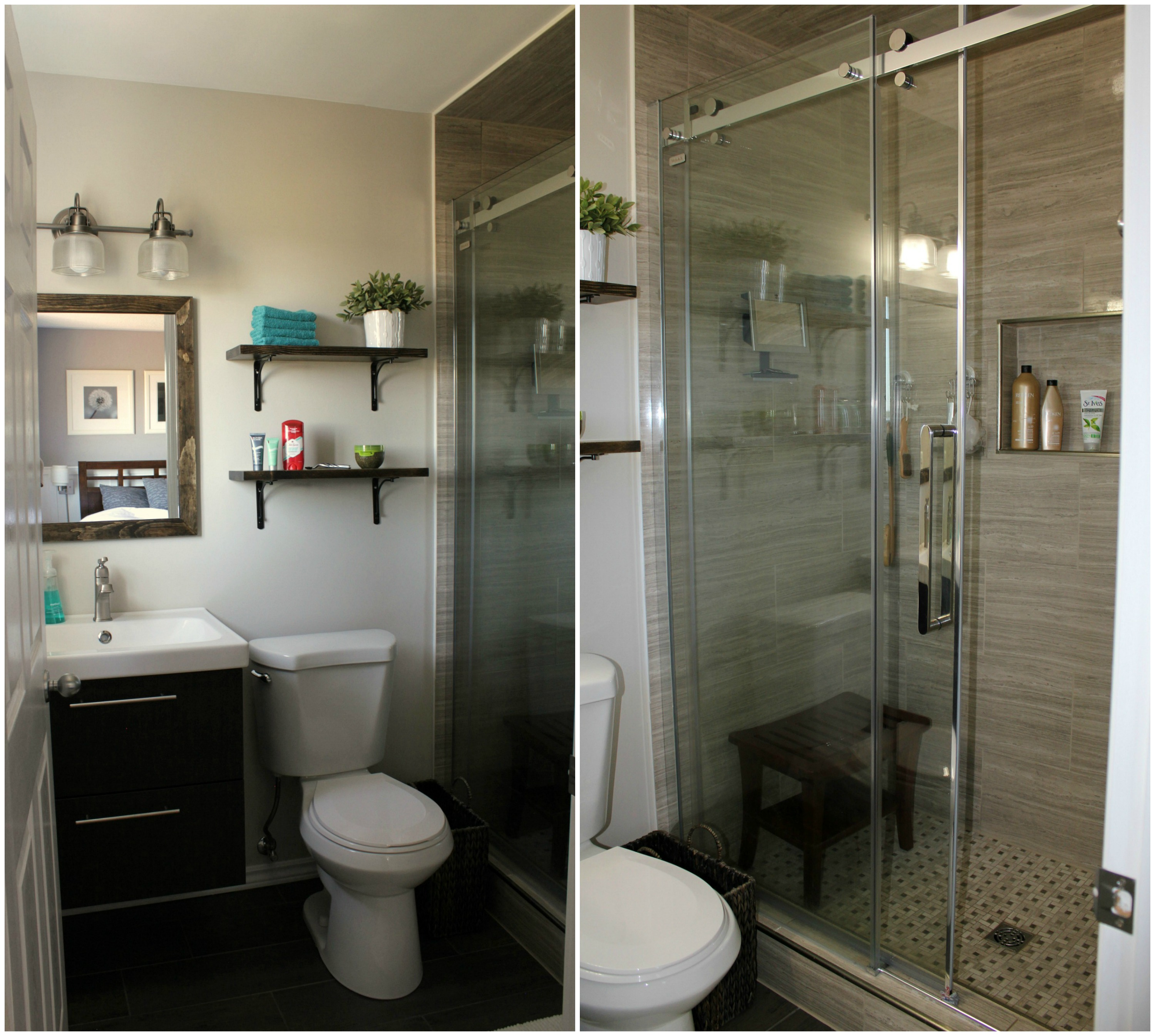 Turtles and tails ensuite bathroom reno reveal - Small bathroom suites for small spaces collection ...
