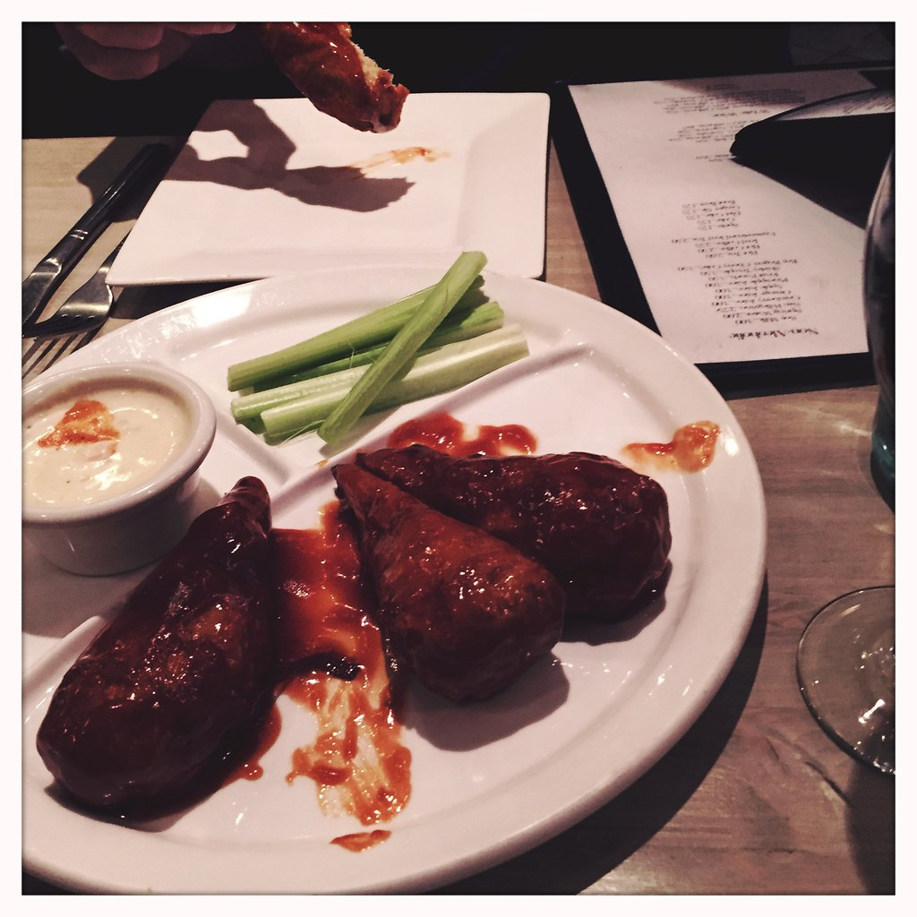 Vegan wings. Just the start of the most awesome veg meal ever! #NYC #redbamboo