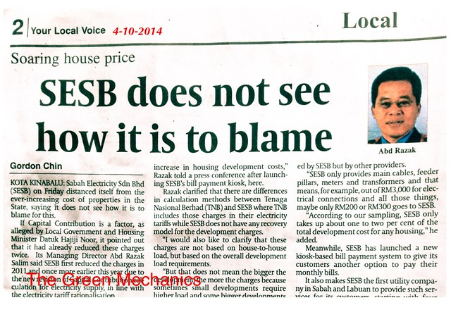 SESB not to blame
