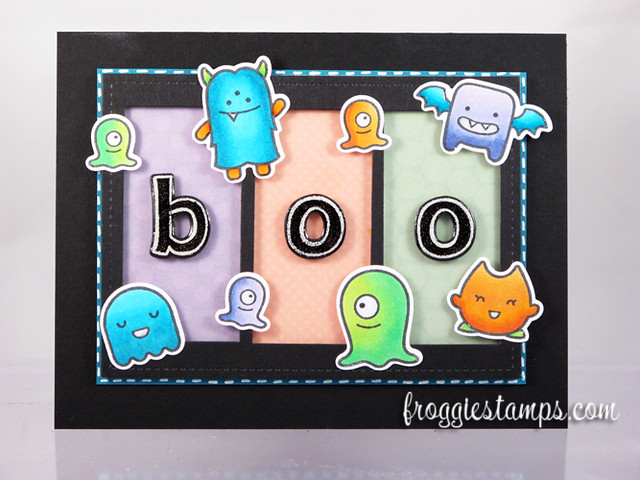 Boo Monsters Copic Card