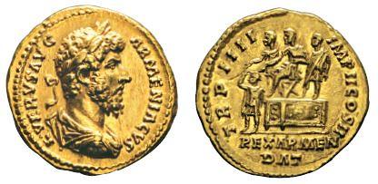 No. 188 LUCIUS VERUS, 161-169. Aureus