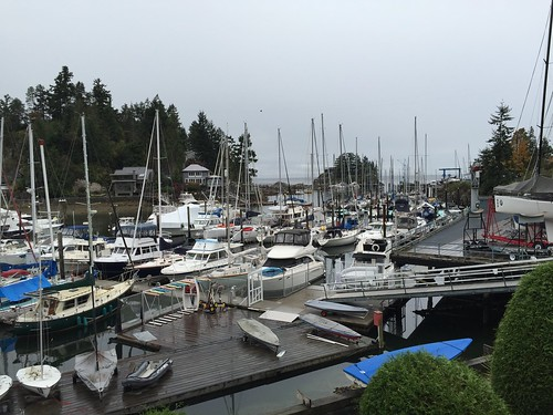 Rainy day at the West Vancouver Yacht Club