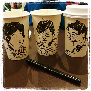 #japon #urbansketch #pentel #portraits #starbucks