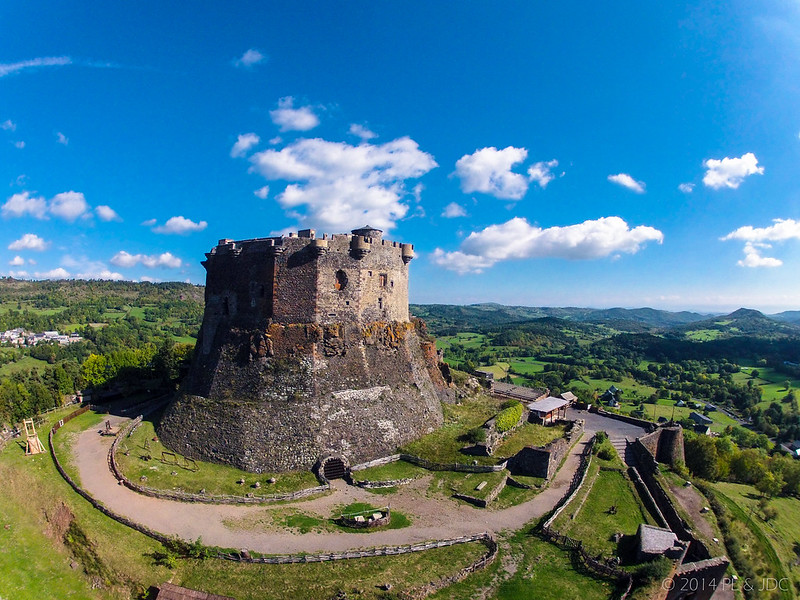 Vista aérea Castillo de Murol