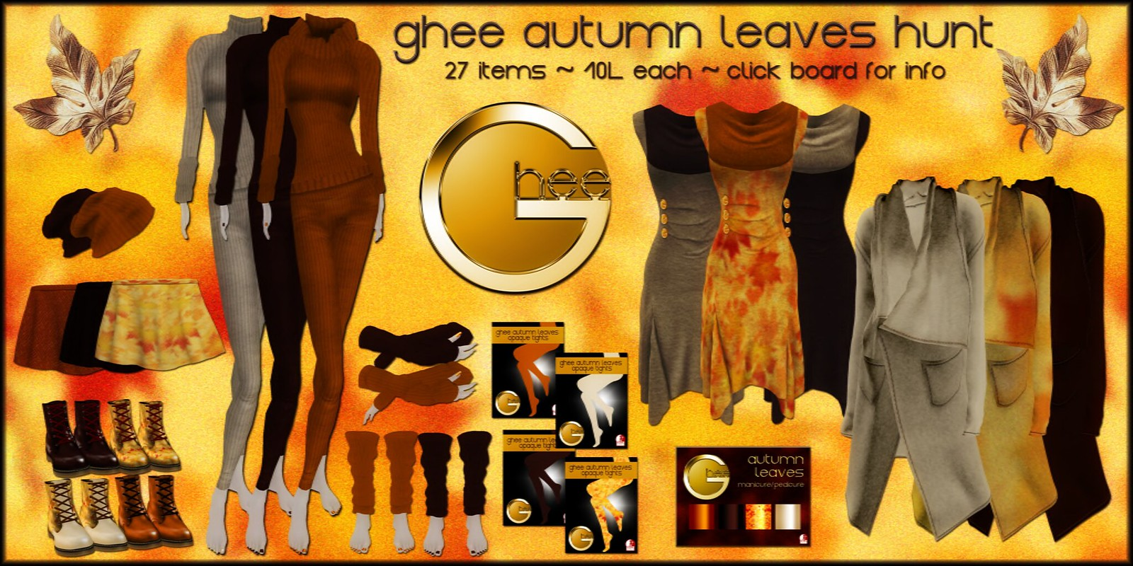 ghee Autumn Leaves Hunt Poster