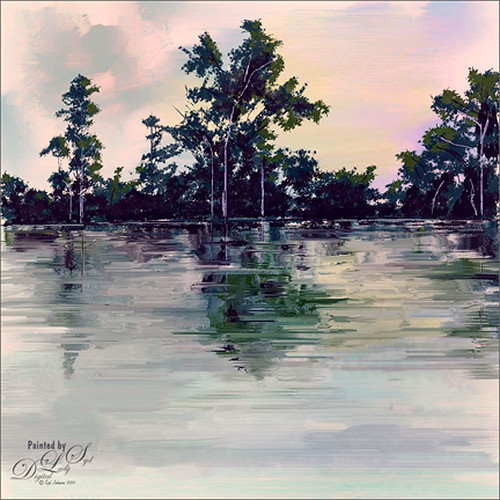 Image of a painted landscape by me