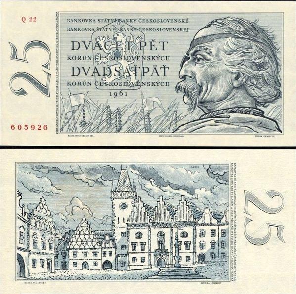 25 Kčs IIa. Dvadsaťpäť korún Československo 1961