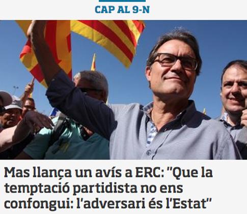 14j11 ara AMas lanza un aviso a ERC