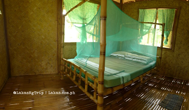 Inside the 1 room bungalow in Jack's Place at Nacpan Beach, El Nido, Palawan, Philippines
