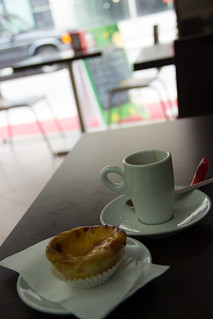 Coffee and Pastel Nata
