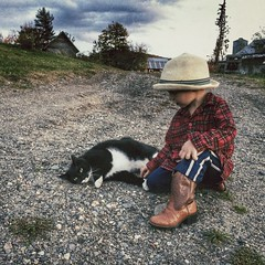 #oldfriends #doozer #fred #besties #farmkitty #cowboy #vermont #northeastkingdom